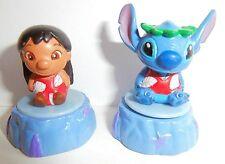 Very Rare! Disney Lilo & Stitch Set Of 2 Mini-Stamp Figures - Japan Import