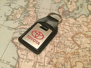 TOYOTA Key Ring Etched and infilled On Leather OBLONG