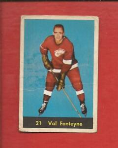 1960-61  PARKHURST  # 21  VAL FONTEYNE  Rookie Detroit Red Wings  Good-Very Good