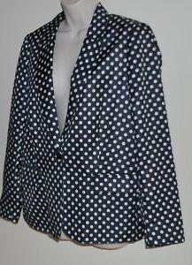 Sussan black & white polka dot jacket Size 12