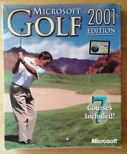 Microsoft Golf 2001 Edition Boxed - CD unused in original cellophane wrap