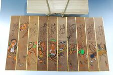 Japanese Traditional Folk Art Otsu-e Otsue Hand Painted Strip of paper