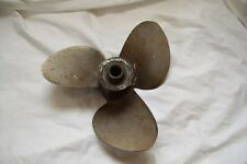 VINTAGE OMC EVINRUDE JOHNSON PROPELLER 14 INCH STAINLESS STEEL PIN STYLE
