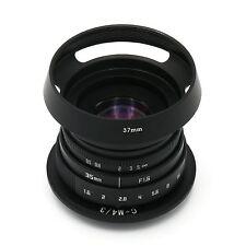 FUJIAN 35mm f1.6 C mount CCTV Lens II fr Micro 4/3 M4/3 E-PL2 E-PM1 GF3 GF2+Hood