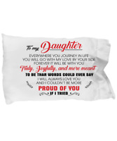 To My Daughter Pillow Case Gift From Mom Dad Love Little Girl Pillowcase p64