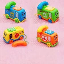 Fun Music Cartoon Bus Phone Educational Developmental Baby Kids Toy Gift ~PL BB