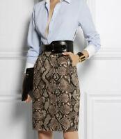 NWT - Altuzarra x Target Snakeskin Print Women's Pencil Business Skirt Size 14