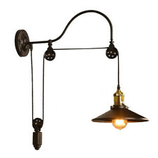 Industrial Wall Mounted Gooseneck Lamp Light Fixture Pulley Reflector Sconce S