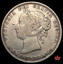 1882H Newfoundland 50 Cents - F/VF - Lot#844