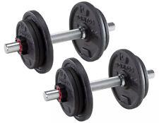 Domyos Dumbells Set 2x10KG Adjustable Dumbbell Sets Weights Gym Weight Bar Bars