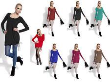 Locker sitzende Damenblusen, - tops & -shirts im Tuniken-Stil mit U-Ausschnitt