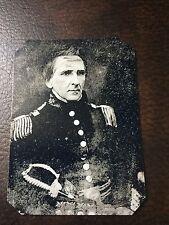 Ultra Rare Brevet Major General Richard Delafield  tintype C676RP