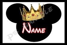 4x6 Disney Cruise Stateroom Door Magnet - KING MICKEY - Personalized