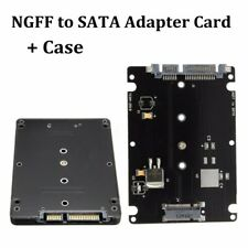 B+M key Socket 2 M.2 NGFF (SATA) SSD To 2.5 SATA Adapter Card With Case Black