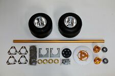 "Drift Trike bike kit 40"" aluminum axle, mounted tires, bearings, chain, hubs"