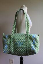Vera Bradley Apple Green Paisley Quilted Medium Duffle Bag AND Monogram USA Made