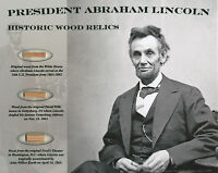 ABRAHAM LINCOLN * 3 Historic Wood Relics * Gettysburg White House Ford's Theater