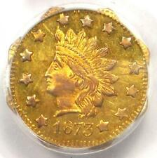 1873 Indian California Gold Dollar Coin G$1 BG-1123 - PCGS MS62 - $1,800 Value!