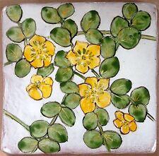 Piastrella dipinto a mano, strisciante JENNY Vegetale, fatto a mano nel Regno Unito