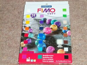 FIMO SOFT BY STAEDTLER BOX OF 24 BLOCKS
