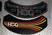 2018 & 2017 HOG Members Rocker Patches HARLEY DAVIDSON OWNERS GROUP HD MC club