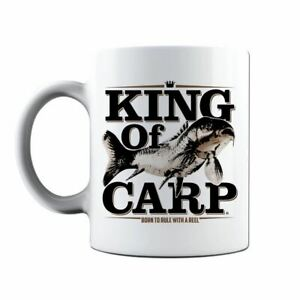 King Of Carp Fresh Water Fishing Angling Hobbie Gift Coffee Mug Tea Cup