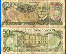 Costa Rica 50 Colones 1993 Central America National Bank Free Shipping Worldwide