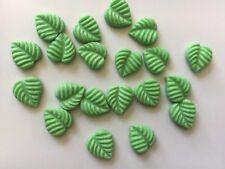 Edible Sugarpaste Cake Topper - 20 X Leaves green