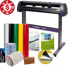 "34"" Vinyl Cutter Sign Cutting Plotter Machine Cut Software Printing Bundle Kit"