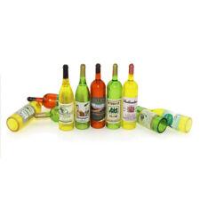 6PCS/set Miniature Hollow Multicolored Wine Bottles for Dollhouse 1:12 Scale