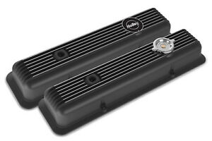 Holley 241-135 Black Finned Muscle Car Series SB Chevy Valve Covers Z28 L82 LT1