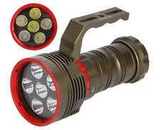 SKYRAY DX6 10000LM 6X CREE XM-L2 LED 200M plongée sous-marine 18650 Lampe Torche