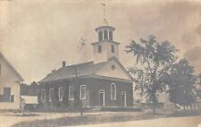 Campton NH Baptist Church & 1/2 the Parsonage~You Helped Me in Singing RPPC 1923