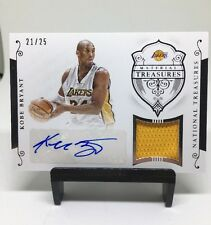 Kobe Bryant Autograph Auto  2014-15 National Treasures Material Lakers /25