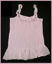 PINK PLEATED SHEER BABYDOLL CHEMISE NIGHTIE SZ XL AUS 16