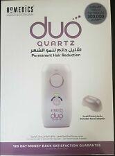 HoMedics DUO QUARTZ- IPL Permanent Hair Reduction Remover + Facial Adaptor