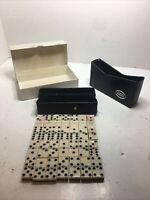 Vintage Carta Blanca Domino Set Dominos Some Damaged See Pics