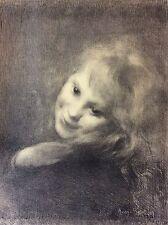 Berton Armand 1854-1927 La Rieuse L' Estampe Moderne art nouveau XIXe 1897