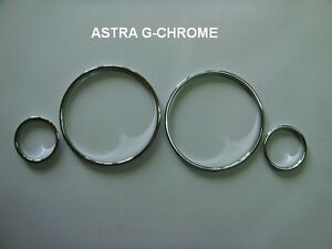 Chrome Gauge Dial Dash Rings Dashboard set For Vauxhall Opel Astra G
