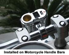 Eklipes chrome motorcycle cigarette 12v power socket and usb charging system