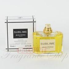 SUBLIME By Jean Patou 2.5 OZ Eau De Parfum Women's Perfume - TESTER No CAP