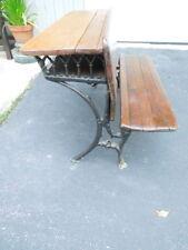 """Antique School Desk,J. L. Mott Iron Works Base, 37.5"""" W"""