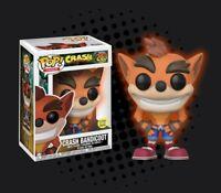 Funko Pop Vinyl Games Crash Bandicoot #273 Glow in the Dark Figure DAMAGED BOX