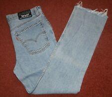 """Bleu Levi 627 W34"""" L30"""" Vintage Denim Jeans. RAW Hem. Fabriqué au Royaume-Uni"""