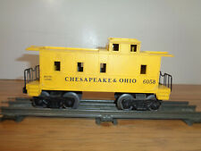 LIONEL O GAUGE # 6058 CHESAPEAKE & OHIO YELLOW CABOOSE