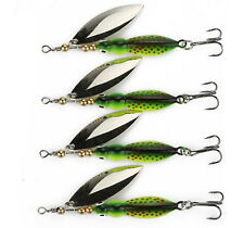 4PCS Spinner Bait Fishing Lure Metal Willow Sequin SpinnerBait Fish 8.5cm/15g
