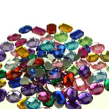 Pack of 120 Large Acrylic Jewels Gems for Kids Collage & Card Crafts Making