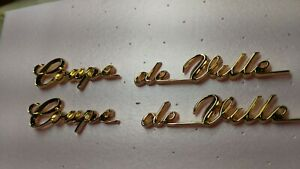 Cadillac 1959 1960 coupe DeVille 18 karat gold scripts pins on the back