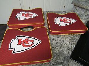 3 Kansas City Chiefs STADIUM SEAT CUSHION w/ Handle Padded Bleacher NFL Game Day