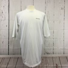 Columbia Thermal T Shirt Mens LT White Short Sleeve Large Tall Tee Outdoor Camp